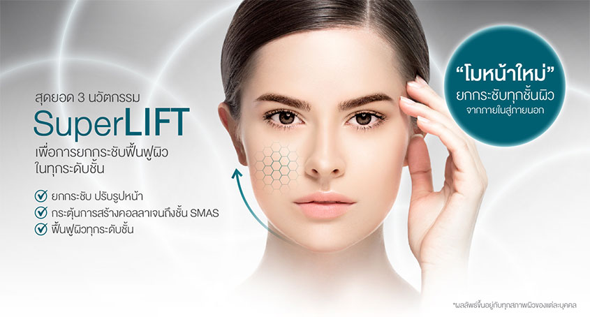 SuperLIFT a combination of top 3 innovations for skin lifting and revival at all levels